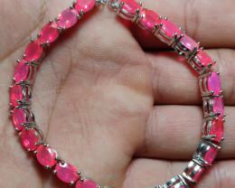 (16) Fantastic Nat 68.24tcw. Top Rich Pink Fire Opal Bracelet