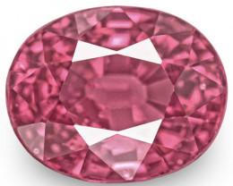 IGI Certified Sri Lanka Spinel, 4.02 Carats, Vivid Purplish Pink Oval