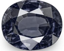 IGI Certified Sri Lanka Spinel, 3.37 Carats, Dark Greyish Blue Oval