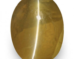 IGI Certified Sri Lanka Chrysoberyl Cat's Eye, 1.29 Carats, Oval