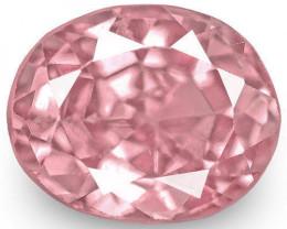 IGI Certified Sri Lanka Spinel, 1.82 Carats, Bright Pink Oval