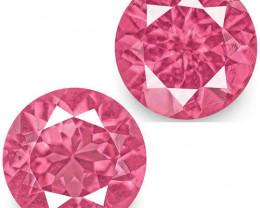 IGI Certified Tanzania Spinels, 1.27 Carats, Intense Pink Round