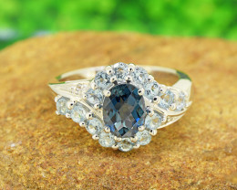 Natural Topaz 925 Sterling Silver Ring SIZE 8