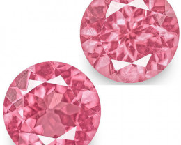 IGI Certified Tanzania Spinels, 1.17 Carats, Bright Pink Round