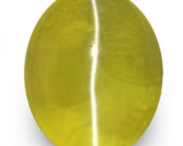 IGI Certified Sri Lanka Chrysoberyl Cat's Eye, 1.91 Carats, Oval