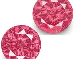 IGI Certified Tanzania Spinels, 1.33 Carats, Bubblegum Pink Round