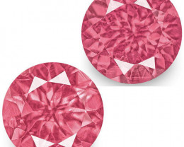 IGI Certified Tanzania Spinels, 1.38 Carats, Hot Pink Round