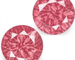 IGI Certified Tanzania Spinels, 1.24 Carats, Vivid Pink Round