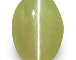IGI Certified India Chrysoberyl Cat's Eye, 4.99 Carats, Oval