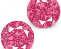 IGI Certified Tanzania Spinels, 1.30 Carats, Intense Pink Round