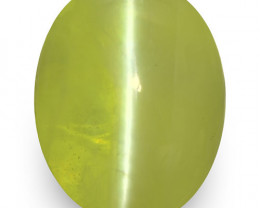 IGI Certified India Chrysoberyl Cat's Eye, 5.10 Carats, Oval
