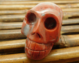Agate carved skull decoration skull craft (G1214)