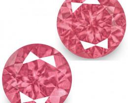 IGI Certified Tanzania Spinels, 1.24 Carats, Bright Pink Round