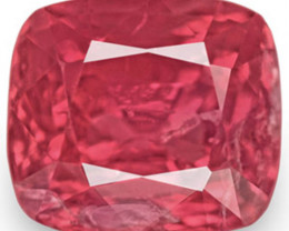 IGI Certified Burma Spinel, 1.40 Carats, Lustrous Orangy Pink Cushion