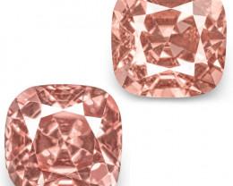 IGI Certified Tajikistan Spinels, 2.29 Carats, Lustrous Pastel Pink Cushion