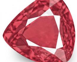 IGI Certified Burma Spinel, 0.84 Carats, Intense Pinkish Red Pear