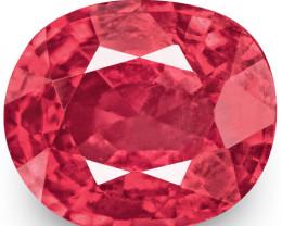 IGI Certified Burma Spinel, 0.82 Carats, Bright Pink Cushion