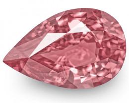 IGI Certified Tajikistan Spinel, 5.02 Carats, Pink Pear