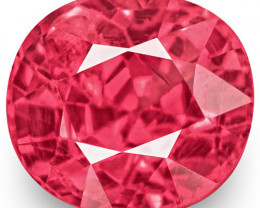 IGI Certified Burma Spinel, 0.81 Carats, Lustrous Baby Pink Oval