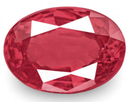 IGI Certified Burma Spinel, 0.92 Carats, Intense Pink Red Oval
