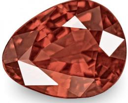 IGI Certified Burma Spinel, 2.05 Carats, Pinkish Reddish Brown Pear