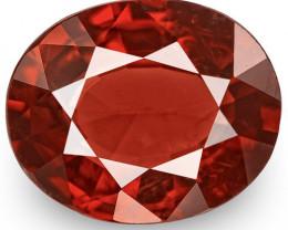 IGI Certified Burma Spinel, 2.87 Carats, Deep Brownish Red Oval