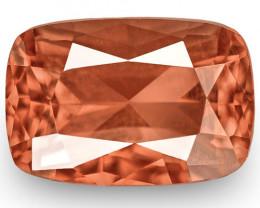 IGI Certified Burma Spinel, 1.49 Carats, Vivid Brownish Orange Cushion