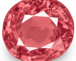IGI Certified Burma Spinel, 1.03 Carats, Lustrous Orangy Pink Oval