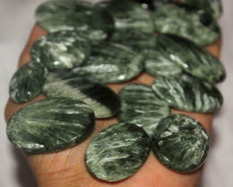 590 Crt Natural Seraphinite Gemstone Cabochons Lot 20