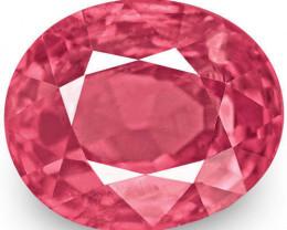 IGI Certified Burma Spinel, 1.22 Carats, Deep Pink Oval