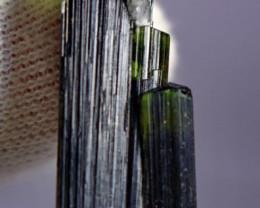 27.30 Cts Beautiful, Superb  Green Cap Tourmaline Crystal