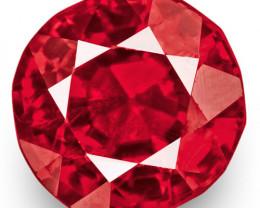 IGI Certified Burma Spinel, 1.08 Carats, Fiery Rich Reddish Pink Oval