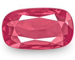 IGI Certified Burma Spinel, 0.83 Carats, Deep Pink Cushion
