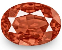 IGI Certified Burma Spinel, 1.46 Carats, Intense Reddish Orange Oval