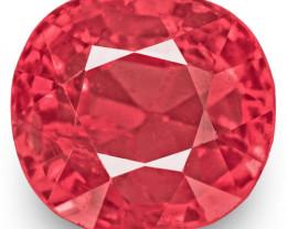 IGI Certified Burma Spinel, 1.03 Carats, Medium Pink Cushion