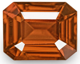 IGI Certified Burma Spinel, 1.50 Carats, Intense Reddish Brown Emerald Cut