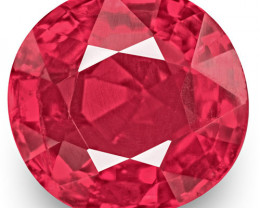 IGI Certified Burma Spinel, 0.86 Carats, Neon Pink Cushion
