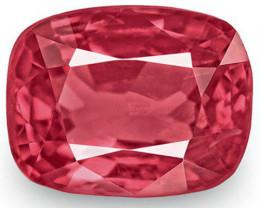 IGI Certified Burma Spinel, 0.91 Carats, Deep Pinkish Red Cushion