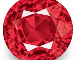 IGI Certified Burma Spinel, 0.94 Carats, Hot Pink Oval