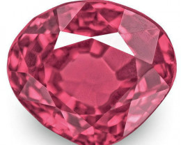 IGI Certified Burma Spinel, 1.58 Carats, Lustrous Purplish Pink Pear