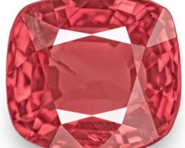 IGI Certified Burma Spinel, 1.08 Carats, Reddish Orange Cushion