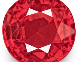 IGI Certified Burma Spinel, 0.74 Carats, Intense Reddish Pink Cushion