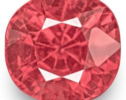 IGI Certified Burma Spinel, 0.98 Carats, Lustrous Pink Cushion