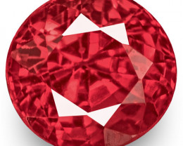 IGI Certified Burma Spinel, 0.70 Carats, Fiery Orangy Pink Oval