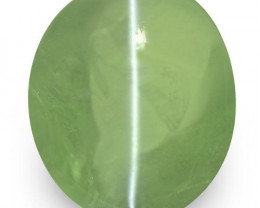 IGI Certified India Alexandrite Cat's Eye, 8.40 Carats, Oval
