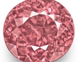 IGI Certified Tajikistan Spinel, 3.02 Carats, Lustrous Pink Oval