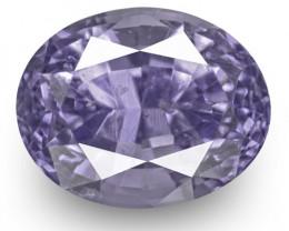 IGI Certified Burma Spinel, 3.67 Carats, Lavender Blue Oval