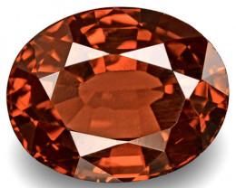 IGI Certified Burma Spinel, 2.72 Carats, Deep Brownish Orangish Red Oval
