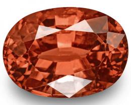IGI Certified Burma Spinel, 3.02 Carats, Fiery Rich Reddish Orange Oval