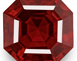 IGI Certified Burma Spinel, 0.96 Carats, Pigeon Blood Red Emerald Cut